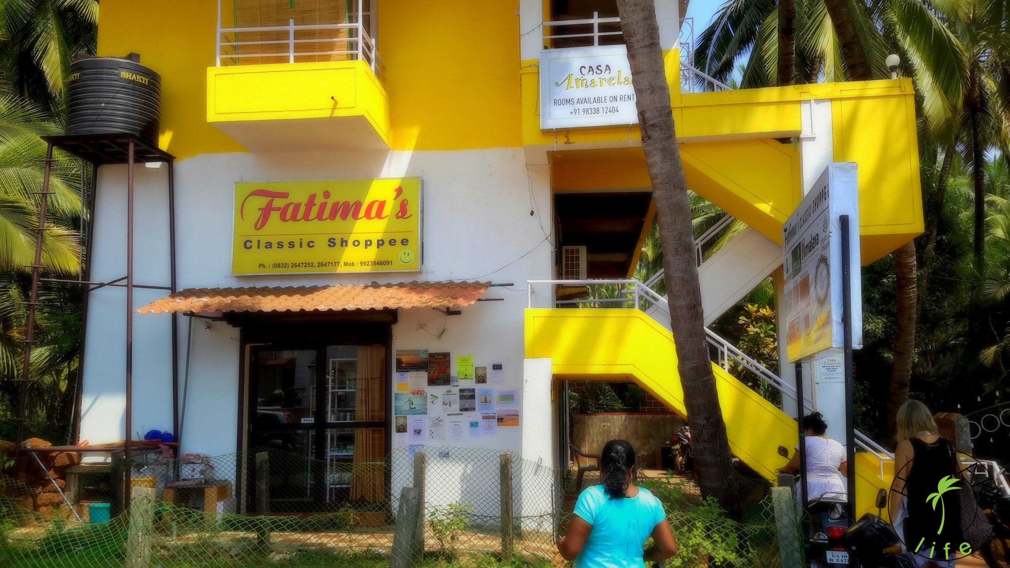 Fatima Classic Shopee to lokalny turystyczny sklepik na Agonda Beach - w tej najbardziej drogiej części Goa.