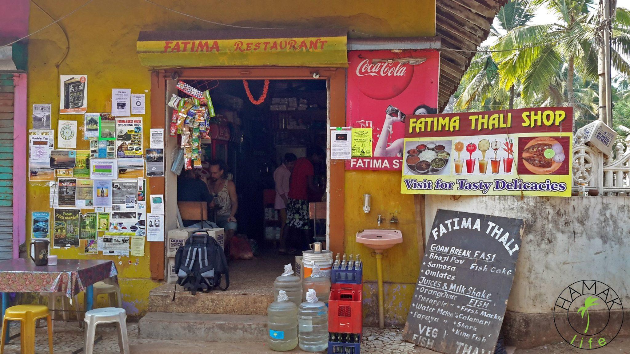 Lokalna jadłodajnia w Indiach na Goa.