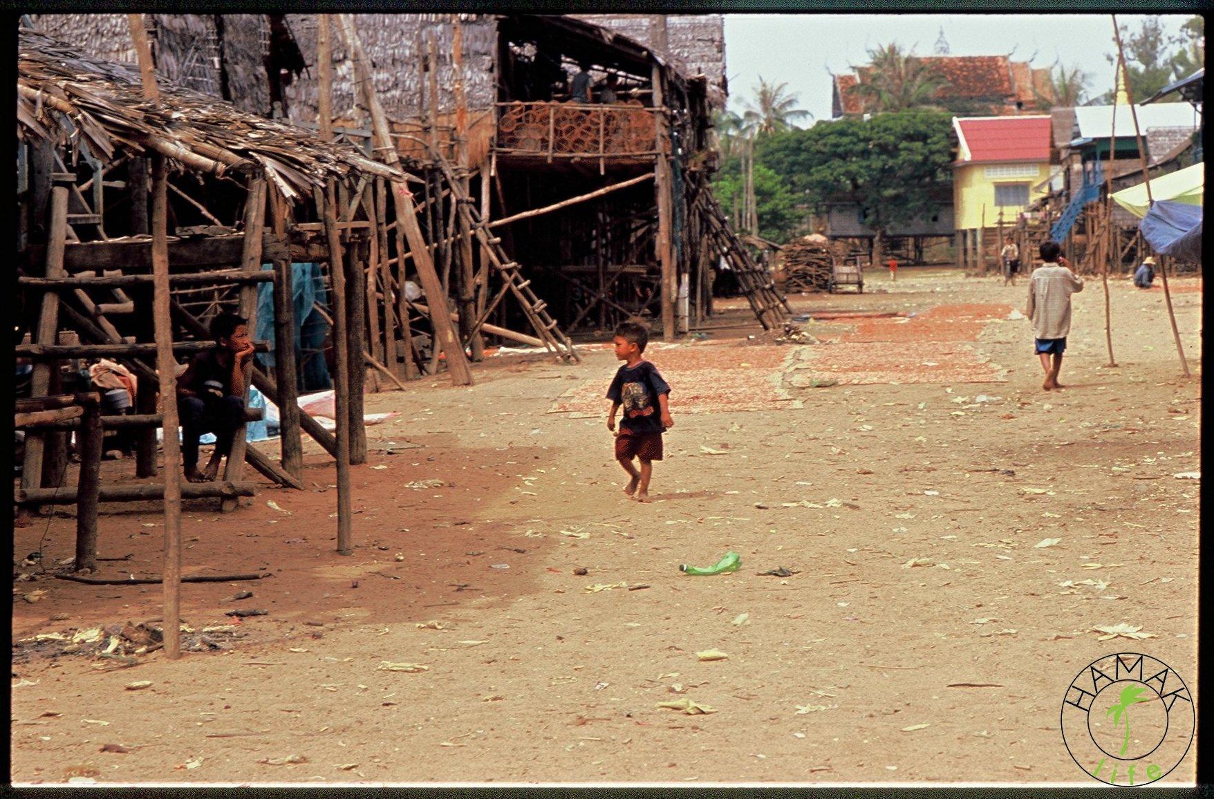 Wioska w Kambodży, kambodżańka osada na palach, fotoreportaż