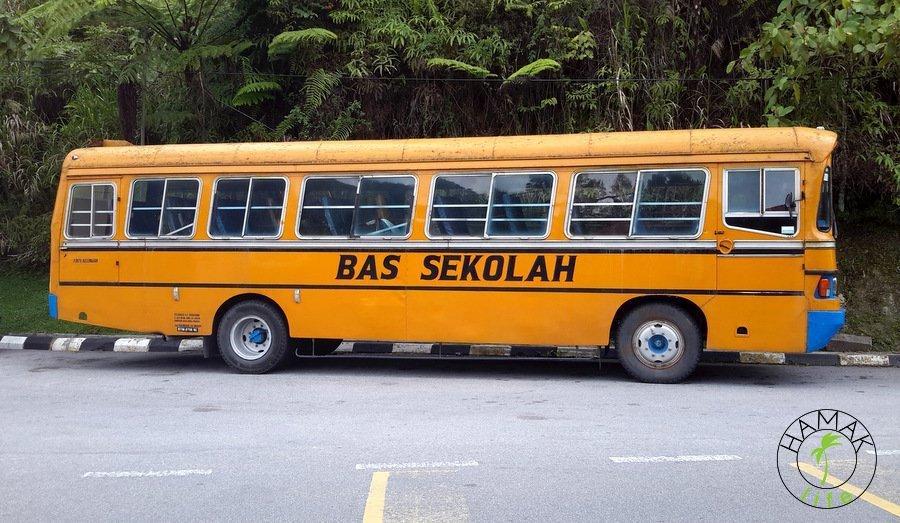 autobus szkolny w Cameron Highlands, Malezja 2015
