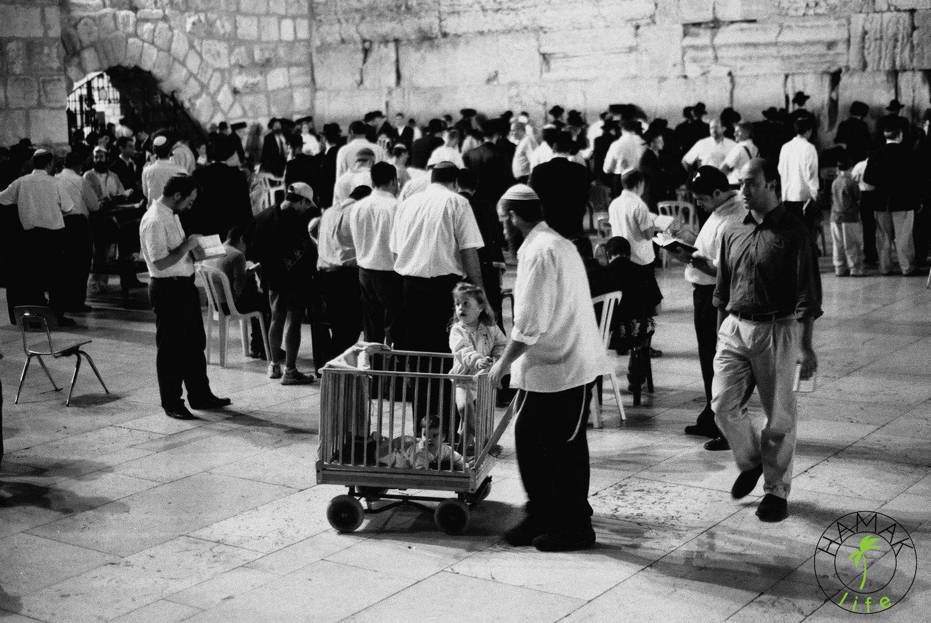 Modlitwa pod Ścianą Płaczu w Jerozolimie