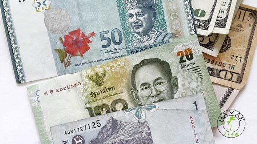 Ringit malezyjski i baht tajski