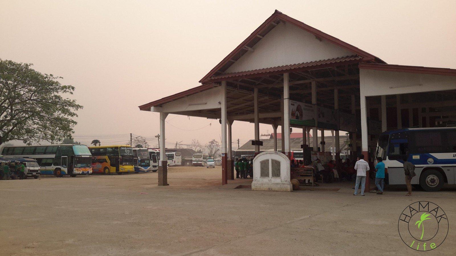 bus terminal in Laos, Luang Prabang