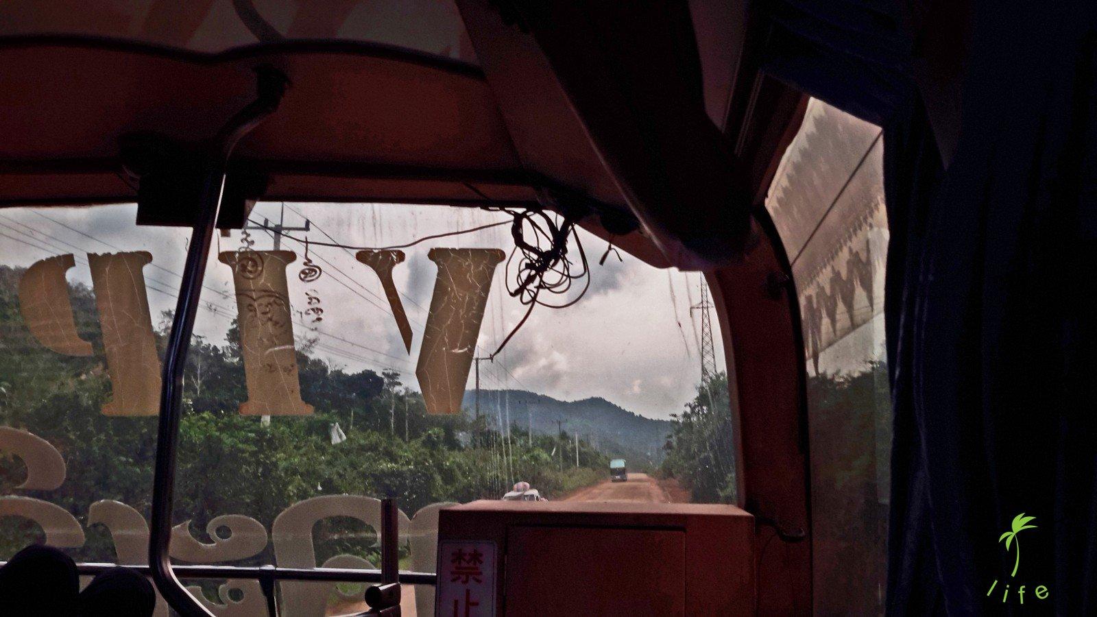 bus in Laos