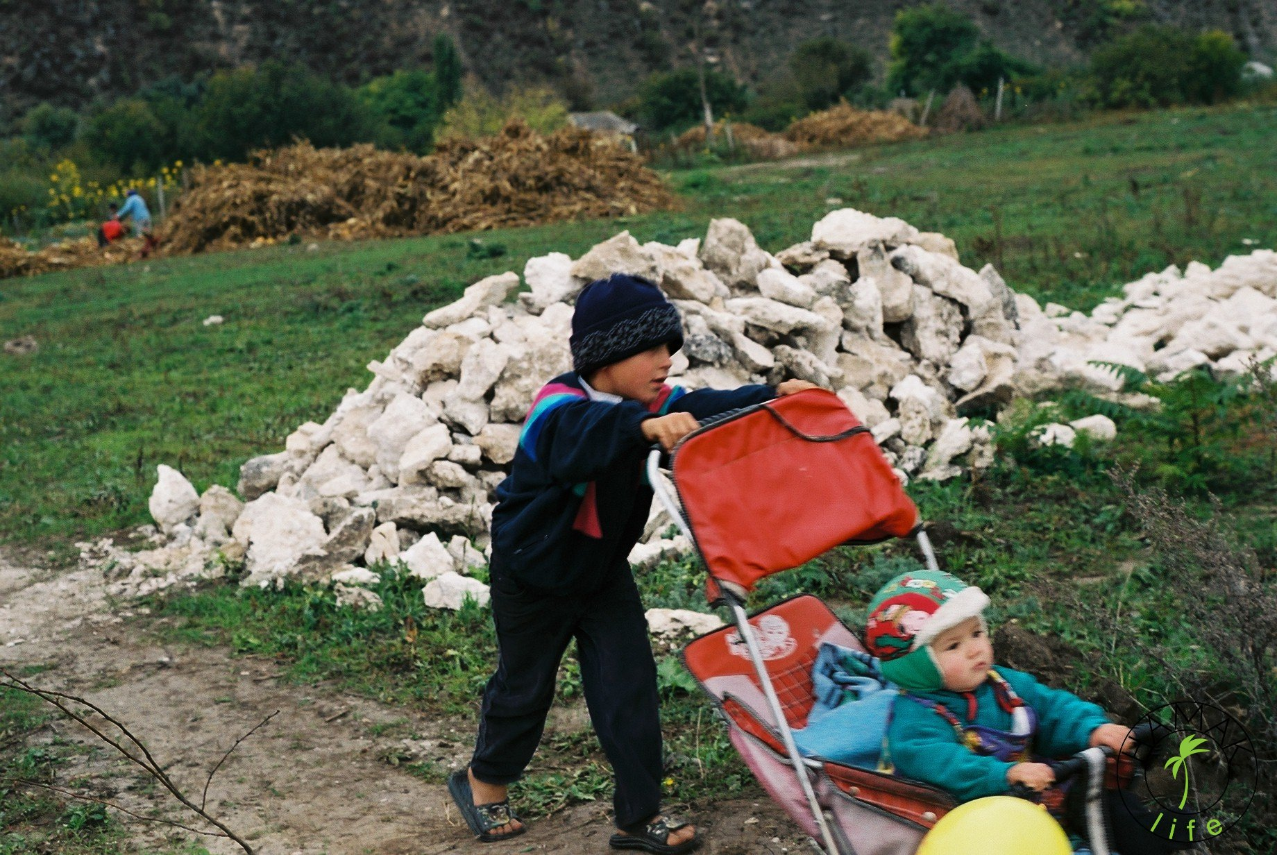 Wioska w Mołdawii. Dzieci.