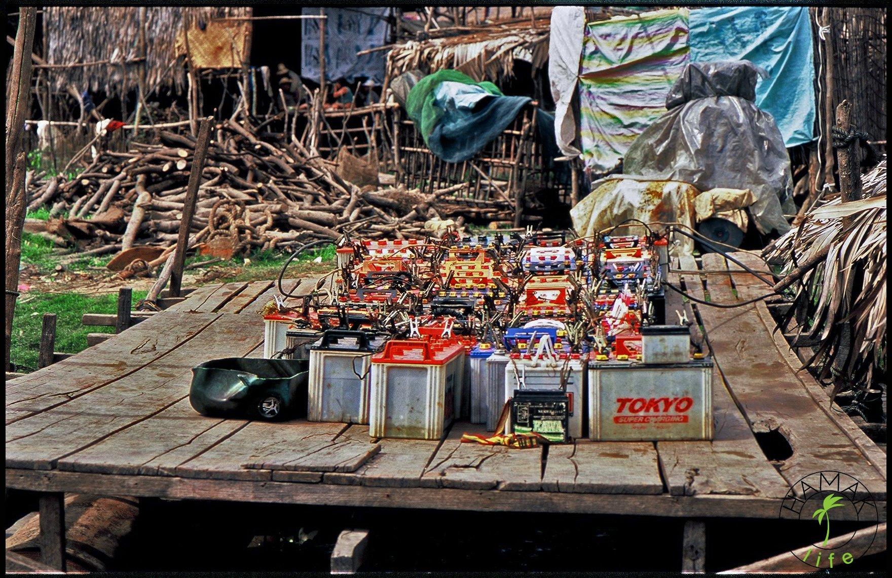 Akumulatory na sprzedaż w Kambodży.