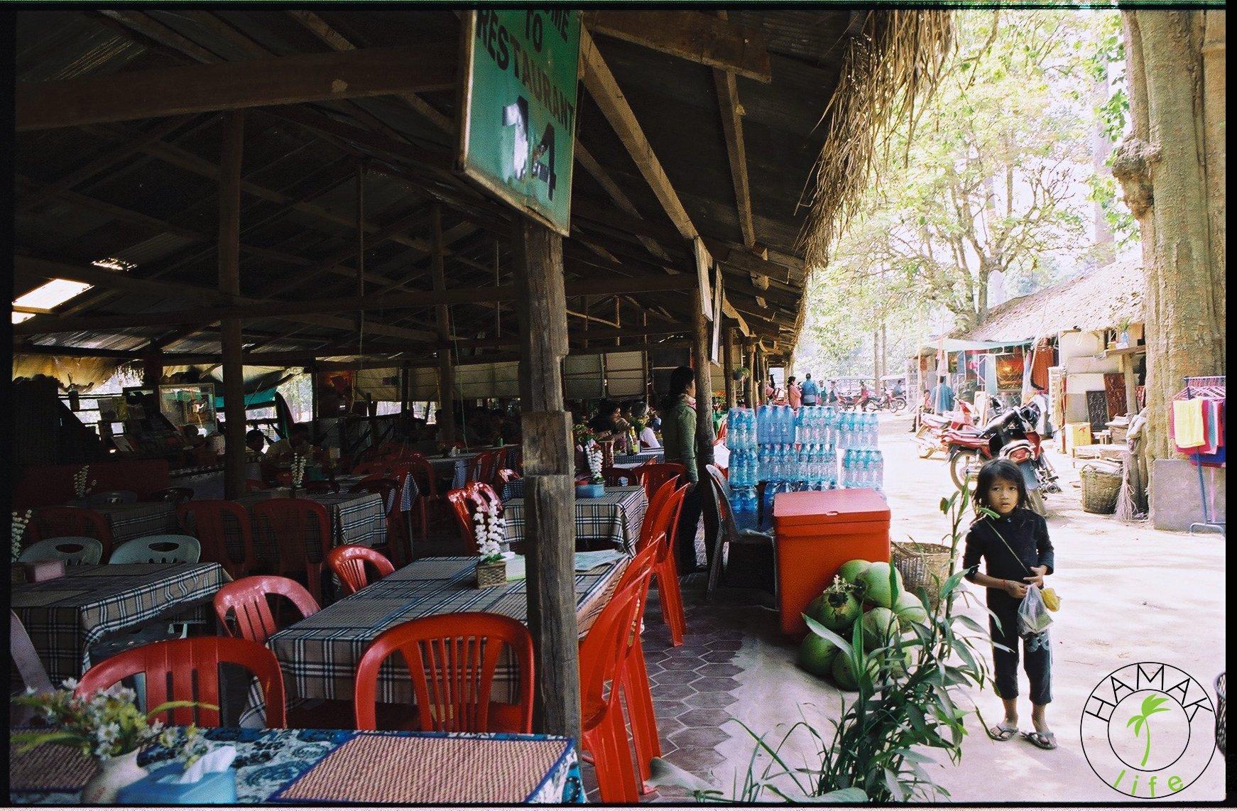 Restauracja w Angkor Wat.