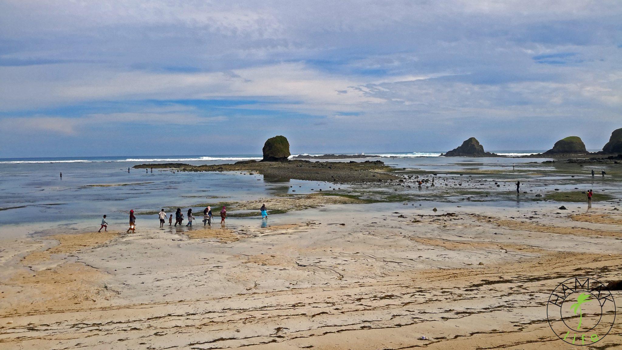 Lombok plaża w czasie odpływu