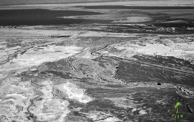 Pustynia Negew. Panorama z góry.