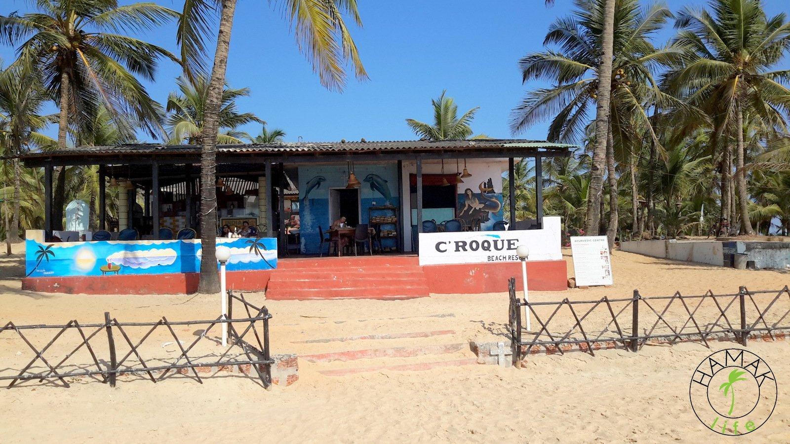 Bar na plaży w Indiach