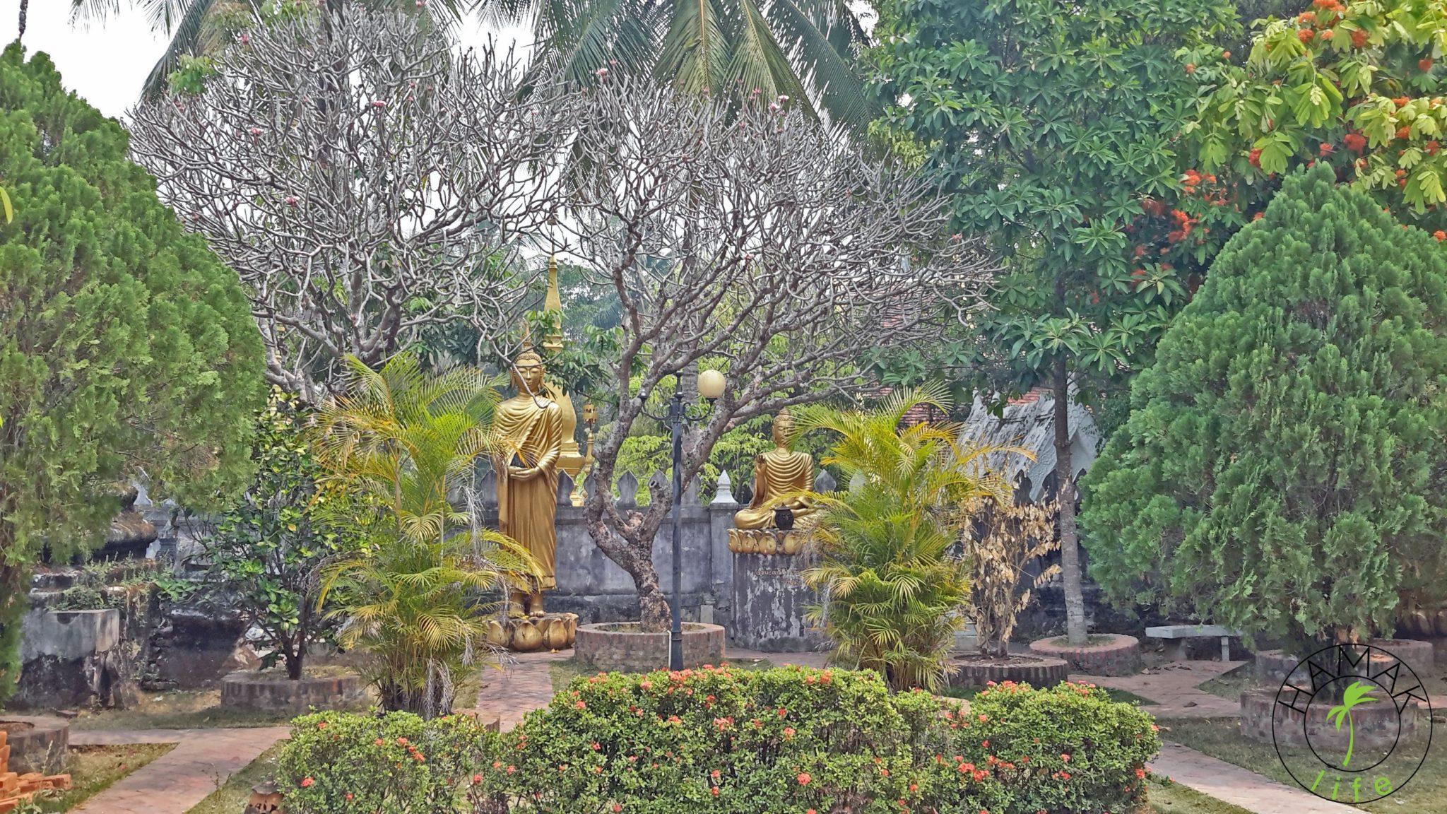 Ogrody świątynne w Luang Prabang