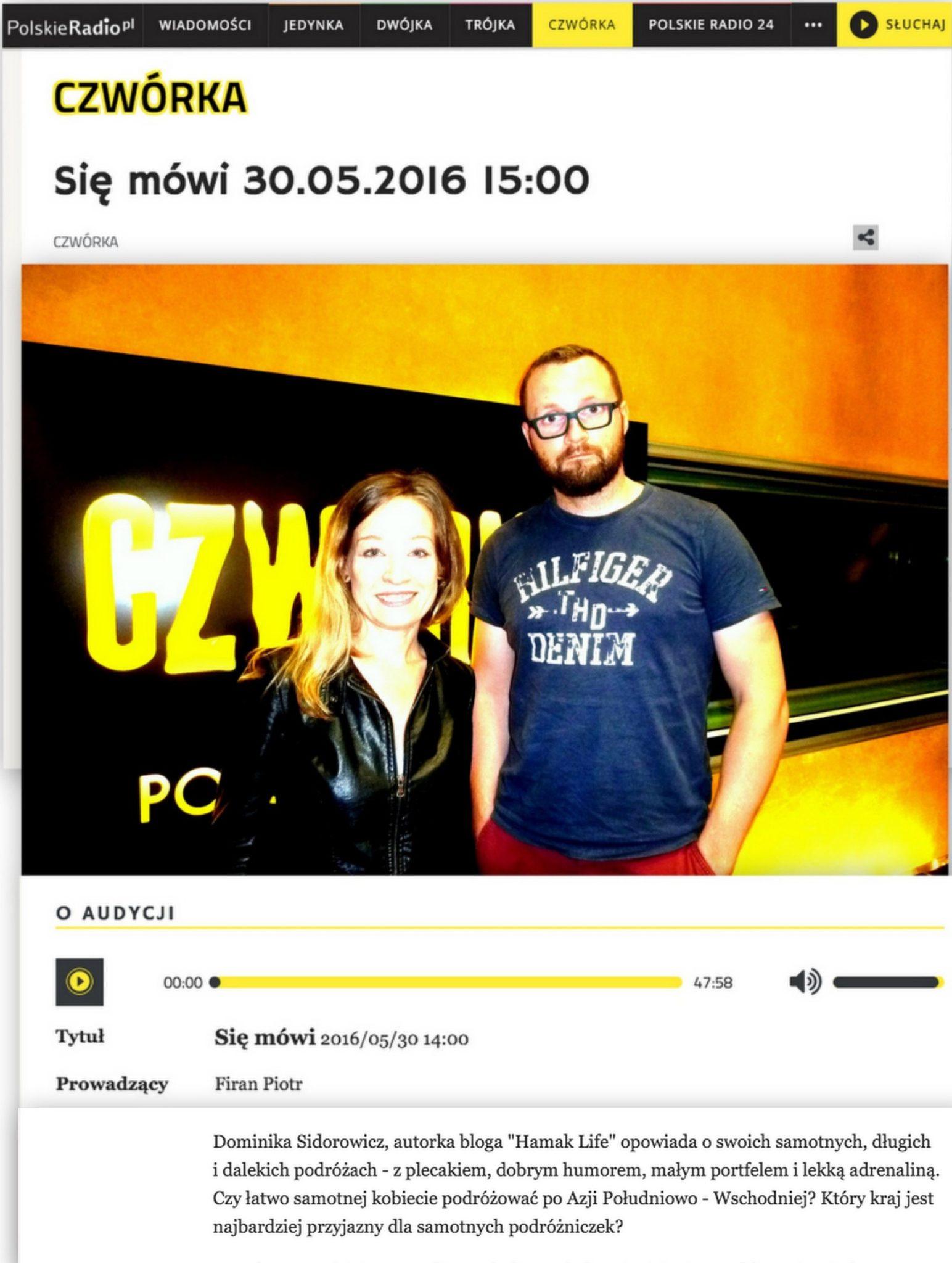 Dominika Sidorowicz w Polskim Radiu