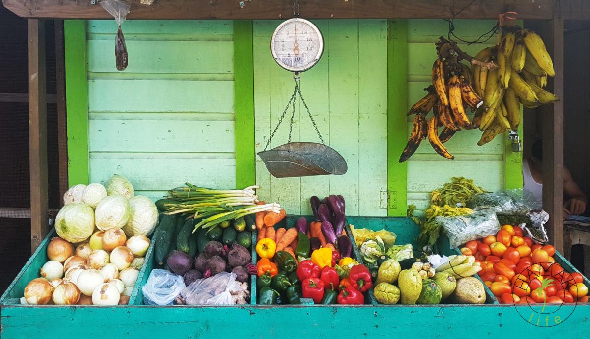 Honduras, stragan warzywno-owocowy